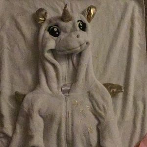 White and gold onesie